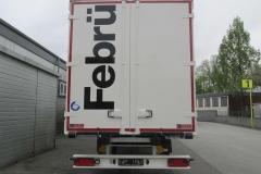 1 Achs Sattelauflieger, ohne Lenkung mit Möbel Kofferaufbau (1)