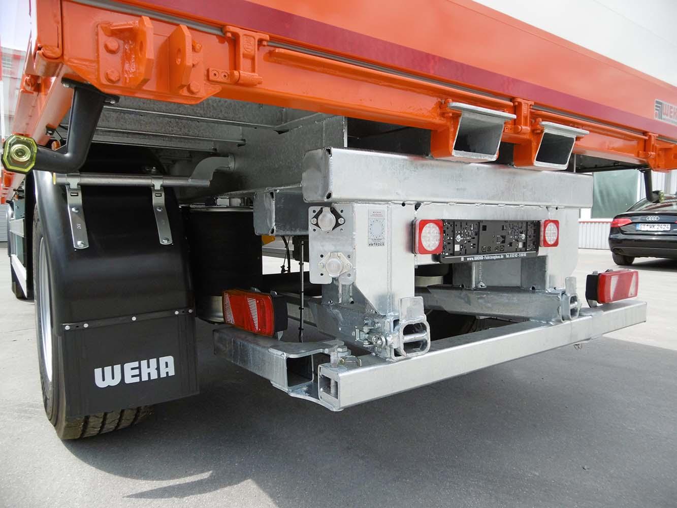 2 Achs Drehschemel Anhänger  mit Staplerhalterung und offenem Bordwandaufbau (1)