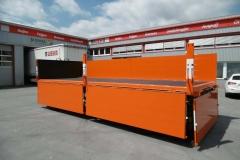 2 Achs Drehschemel Anhänger  mit Staplerhalterung und offenem Bordwandaufbau (3)