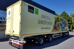2 Achs Sattelauflieger mit Zwangslenkung und Kofferaufbau für Blumentransport (1)