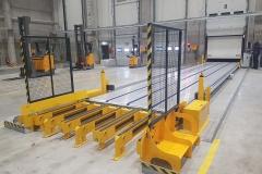 3 Achs Kühl Auflieger mit automatischen Rolltor für maximale Durchladebreite, eine Front Kühlmaschine und einem Lamellen Fördersystem von Cargo Floor (1)