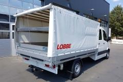 Aluminium Aufbau mit Bordwänden und einem Verdeckgestell (1)
