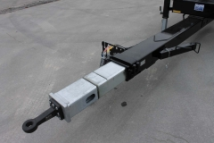 Jumbo Wechsel Zentralachs Anhänger mit längenverstellbarem Zugrohr (1)