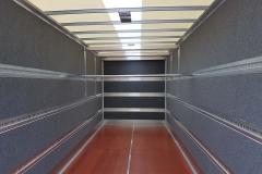 Möbelkoffer mit Nadelfilz, Stäbchen Bindeleisten und zusätzlichem aufgesetzten Doppelstocksystem