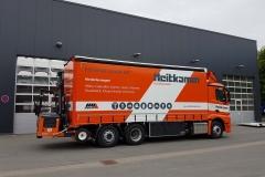 Schiebesplann Planenaufbau mit Staplerhalterung auf LKW Fahrgestell (4)