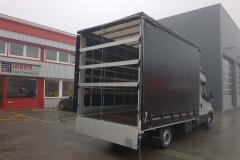 Umbau der Fahrerkabine auf eine Hatscher Schlaf- und Dachschlafkabine mit Schiebespannplanenaufbau (4)